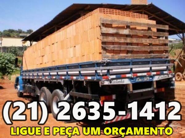 preço de caminhão fechado de tijolos 20x30 rj